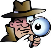Hand-drawn Vector illustration of an Inspector Detective — Stock Vector