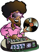 Hand-drawn Vector illustration of an Disco DJ — Stock Vector