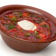 Ukrainian and russian national red soup — Stock Photo #6775516