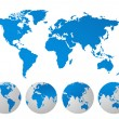 World map vector illustration — Stock Photo
