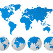 World map vector illustration — Stockfoto #6990390