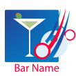 Royalty-Free Stock Photo: Bar logo vector