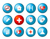 Medical icons vector — Stock Photo