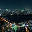 Suita and Toyonaka Skyline at night — Stock Photo