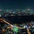 Suita and Toyonaka Skyline at night - Stock Photo