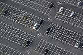 Car park seen from above — Stock Photo
