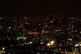 Zone portuaire osaka pendant la nuit — Photo