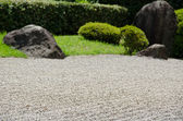 Stone garden of Zen Buddhism in Japan — Stock Photo