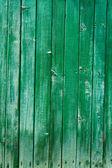 Eski bir ev yeşil duvar — Stok fotoğraf