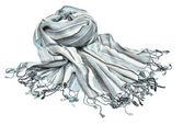 Sjaal met blauwe en grijze strepen — Stockfoto