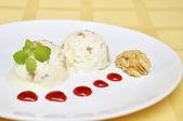 Vanilla ice cream — Stock Photo