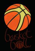 Basketball black.eps — Stock Vector