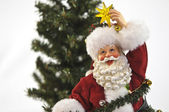 Santa med stjärna — Stockfoto