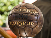 Old tottenham soccer bal — Stock Photo
