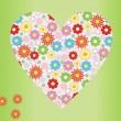 Flower background design — Imagen vectorial