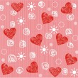 Seamless valentine day heart background — Vector de stock