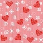 bezszwowe Walentynki dzień serce tło — Wektor stockowy