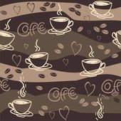 Seamless vector pattern with cup of coffee — Stock Vector