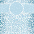 Royalty-Free Stock Vector Image: Winter pattern with frame and seamless background