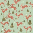 Royalty-Free Stock Vector Image: Winter seamless pattern with animals