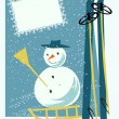 Royalty-Free Stock Vector Image: Card with snowman