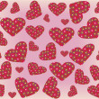 Vector seamless pattern with hearts — Stok Vektör