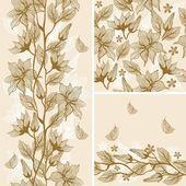 Retro floral seamless texture — Stock Vector