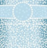 Winter pattern with frame and seamless background — Vettoriale Stock
