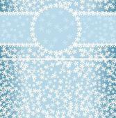 冬季模式与框架和无缝背景 — 图库矢量图片