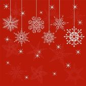 Red christmas card — Vecteur
