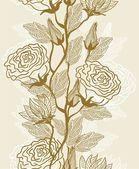 シームレスなベクターの花を持つテクスチャ — ストックベクタ