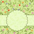 Floral pattern with frame — Stock Vector