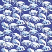 Diamond seamless pattern in vector — ストックベクタ