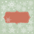 Seamless xmas background with banner — Stock Vector