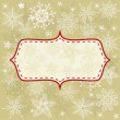 Seamless xmas background with banner — Stock Vector #7382416