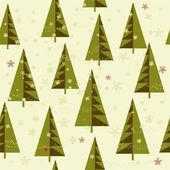 Winter background with Christmas trees — Vector de stock
