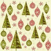 Bezešvé vánoční pozadí — Stock vektor
