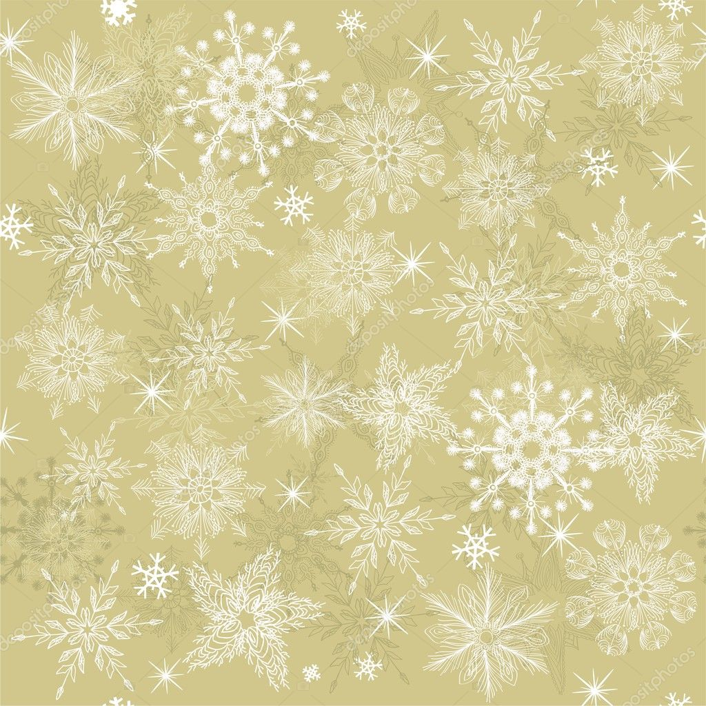 Seamless background with snowflakes  Stock Vector #7382410