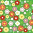 Flower seamless background design — Stock Vector