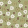 Royalty-Free Stock Imagen vectorial: Retro seamless floral pattern