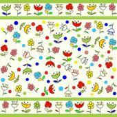 Kids seamless pattern — Stock Vector
