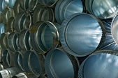 Metal tubes with color — Stock Photo
