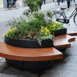 Stock Photo: Modern wooden bench