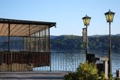 Dock on the lake — Stock Photo