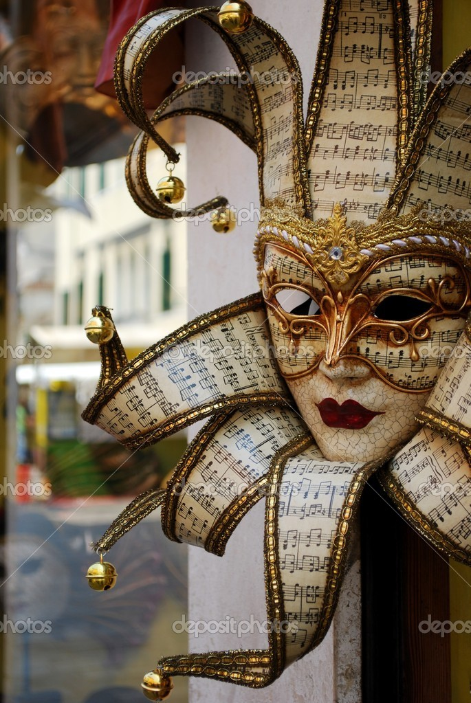 Typical colorful souvenir carnival mask in Venice, Italy — Stock Photo #6818957