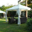Gazebo in the garden - Stock Photo