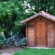 Foto Stock: Wooden tool shed