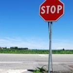 Značka stop — Stock fotografie
