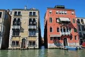 Case sul canal grande, venezia — Foto Stock