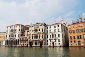Casas en gran canal, venecia — Foto de Stock